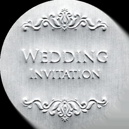 圓形銀箔Wedding貼紙