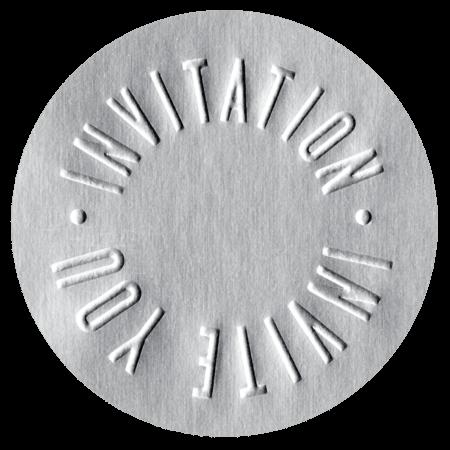 圓形銀箔Invitation貼紙